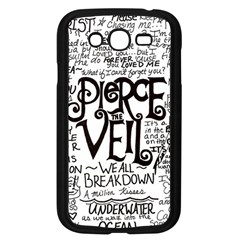 Pierce The Veil Music Band Group Fabric Art Cloth Poster Samsung Galaxy Grand Duos I9082 Case (black) by Onesevenart