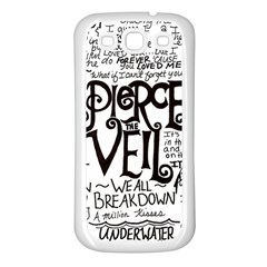 Pierce The Veil Music Band Group Fabric Art Cloth Poster Samsung Galaxy S3 Back Case (white) by Onesevenart