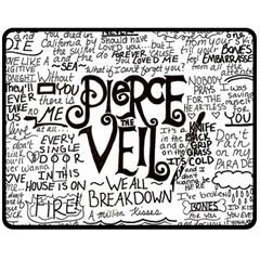 Pierce The Veil Music Band Group Fabric Art Cloth Poster Double Sided Fleece Blanket (medium)  by Onesevenart