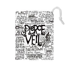 Pierce The Veil Music Band Group Fabric Art Cloth Poster Drawstring Pouches (large)  by Onesevenart