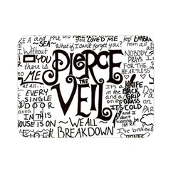 Pierce The Veil Music Band Group Fabric Art Cloth Poster Double Sided Flano Blanket (mini)  by Onesevenart