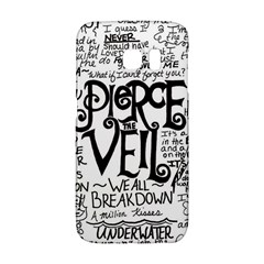 Pierce The Veil Music Band Group Fabric Art Cloth Poster Galaxy S6 Edge by Onesevenart