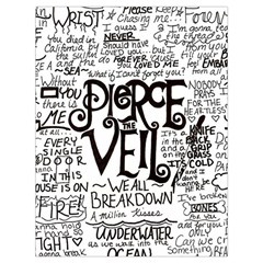 Pierce The Veil Music Band Group Fabric Art Cloth Poster Drawstring Bag (large) by Onesevenart