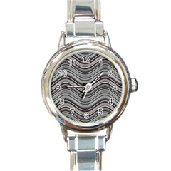 Abstraction Round Italian Charm Watch by Valentinaart