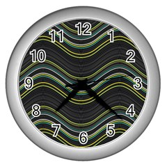 Abstraction Wall Clocks (silver)  by Valentinaart