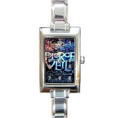 Pierce The Veil Quote Galaxy Nebula Rectangle Italian Charm Watch by Onesevenart