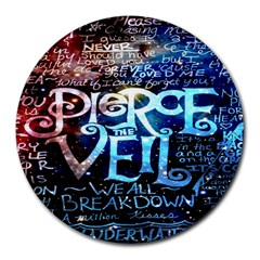 Pierce The Veil Quote Galaxy Nebula Round Mousepads by Onesevenart