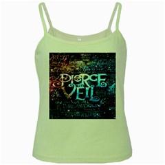 Pierce The Veil Quote Galaxy Nebula Green Spaghetti Tank by Onesevenart