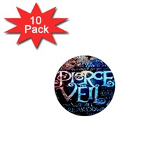 Pierce The Veil Quote Galaxy Nebula 1  Mini Buttons (10 Pack)  by Onesevenart