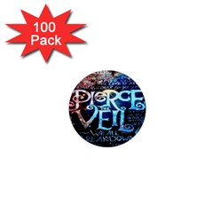 Pierce The Veil Quote Galaxy Nebula 1  Mini Buttons (100 Pack)  by Onesevenart