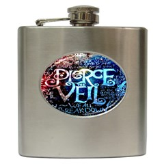 Pierce The Veil Quote Galaxy Nebula Hip Flask (6 Oz) by Onesevenart