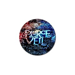 Pierce The Veil Quote Galaxy Nebula Golf Ball Marker by Onesevenart