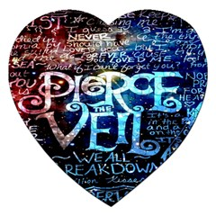 Pierce The Veil Quote Galaxy Nebula Jigsaw Puzzle (heart) by Onesevenart