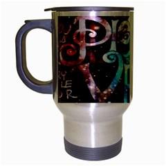Pierce The Veil Quote Galaxy Nebula Travel Mug (silver Gray) by Onesevenart