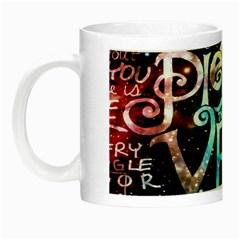 Pierce The Veil Quote Galaxy Nebula Night Luminous Mugs by Onesevenart