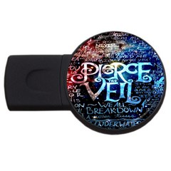 Pierce The Veil Quote Galaxy Nebula Usb Flash Drive Round (4 Gb) by Onesevenart