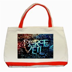Pierce The Veil Quote Galaxy Nebula Classic Tote Bag (red) by Onesevenart
