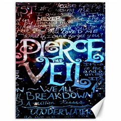 Pierce The Veil Quote Galaxy Nebula Canvas 12  X 16   by Onesevenart