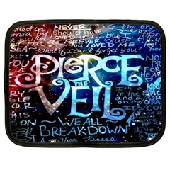 Pierce The Veil Quote Galaxy Nebula Netbook Case (xl)  by Onesevenart