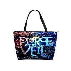 Pierce The Veil Quote Galaxy Nebula Shoulder Handbags by Onesevenart