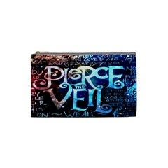 Pierce The Veil Quote Galaxy Nebula Cosmetic Bag (small)  by Onesevenart