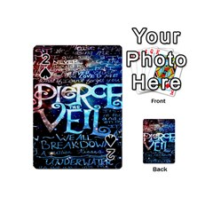 Pierce The Veil Quote Galaxy Nebula Playing Cards 54 (mini)  by Onesevenart
