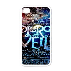 Pierce The Veil Quote Galaxy Nebula Apple Iphone 4 Case (white) by Onesevenart