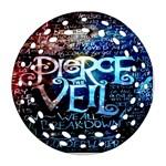 Pierce The Veil Quote Galaxy Nebula Ornament (Round Filigree)
