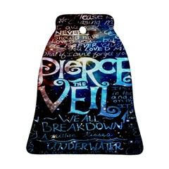 Pierce The Veil Quote Galaxy Nebula Ornament (bell) by Onesevenart