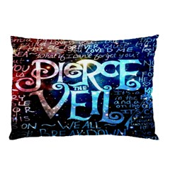 Pierce The Veil Quote Galaxy Nebula Pillow Case (two Sides) by Onesevenart