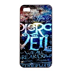 Pierce The Veil Quote Galaxy Nebula Apple Iphone 4/4s Seamless Case (black) by Onesevenart
