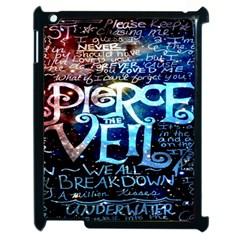 Pierce The Veil Quote Galaxy Nebula Apple Ipad 2 Case (black) by Onesevenart