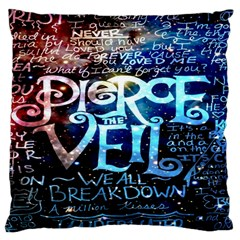Pierce The Veil Quote Galaxy Nebula Large Cushion Case (two Sides) by Onesevenart