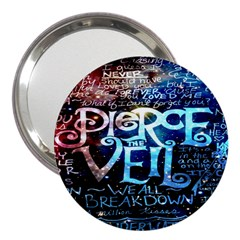 Pierce The Veil Quote Galaxy Nebula 3  Handbag Mirrors by Onesevenart