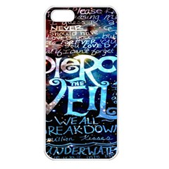 Pierce The Veil Quote Galaxy Nebula Apple Iphone 5 Seamless Case (white) by Onesevenart