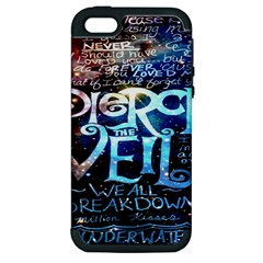 Pierce The Veil Quote Galaxy Nebula Apple Iphone 5 Hardshell Case (pc+silicone) by Onesevenart