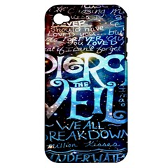 Pierce The Veil Quote Galaxy Nebula Apple Iphone 4/4s Hardshell Case (pc+silicone) by Onesevenart