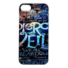 Pierce The Veil Quote Galaxy Nebula Apple Iphone 5s/ Se Hardshell Case by Onesevenart