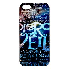 Pierce The Veil Quote Galaxy Nebula Iphone 5s/ Se Premium Hardshell Case by Onesevenart