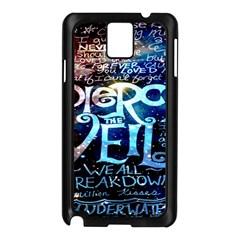 Pierce The Veil Quote Galaxy Nebula Samsung Galaxy Note 3 N9005 Case (black) by Onesevenart