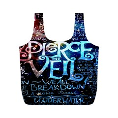 Pierce The Veil Quote Galaxy Nebula Full Print Recycle Bags (m)  by Onesevenart