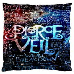 Pierce The Veil Quote Galaxy Nebula Large Flano Cushion Case (one Side) by Onesevenart