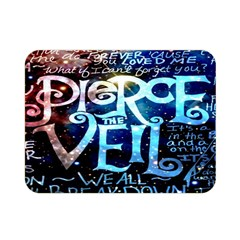Pierce The Veil Quote Galaxy Nebula Double Sided Flano Blanket (mini)  by Onesevenart