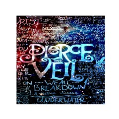 Pierce The Veil Quote Galaxy Nebula Small Satin Scarf (square) by Onesevenart