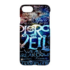 Pierce The Veil Quote Galaxy Nebula Apple Iphone 7 Hardshell Case by Onesevenart