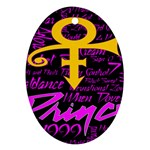 Prince Poster Ornament (Oval)