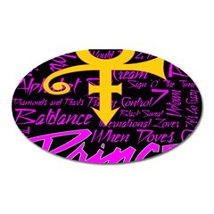 Prince Poster Oval Magnet by Onesevenart
