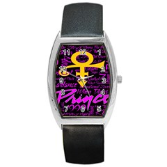 Prince Poster Barrel Style Metal Watch by Onesevenart