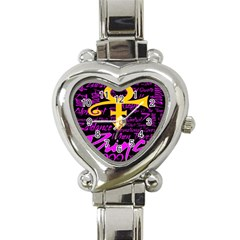 Prince Poster Heart Italian Charm Watch by Onesevenart
