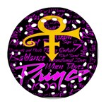 Prince Poster Round Filigree Ornament (Two Sides)